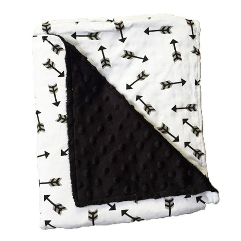 Little Arrows Black Minky Blanket