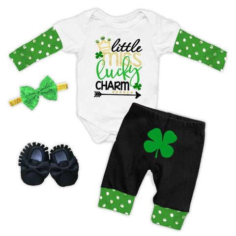Little Miss Lucky Charm Onesie And Pants