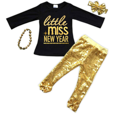 Little Miss New Year Top And Pants