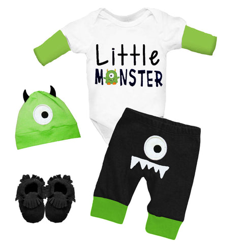 Little Monster Green Onesie And Pants