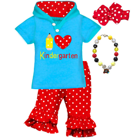 Love Kindergarten Red Polka Top And Capri