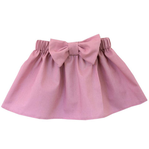 Mauve Pink Skirt Bow