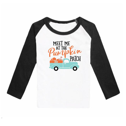 Meet Me At The Pumpkin Patch Shirt Raglan Long Sleeve