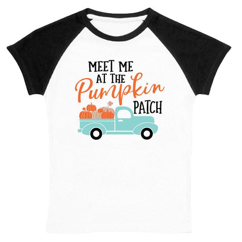 Meet Me At The Pumpkin Patch Shirt Raglan Mommy Me