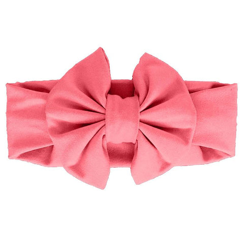 Melon Coral Messy Bow Headband