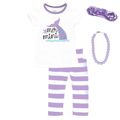 Mer Mini Mermaid Outfit Teal Purple Mommy Me Top And Leggings