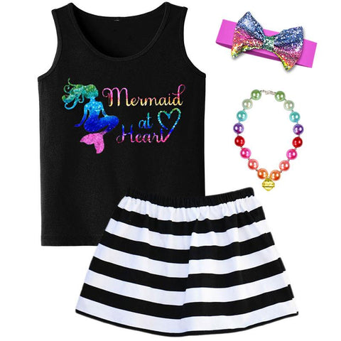 Mermaid At Heart Tank Top Rainbow Sparkle