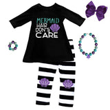 Mermaid Hair Dont Care Outfit Purple Stripe Top And Pants