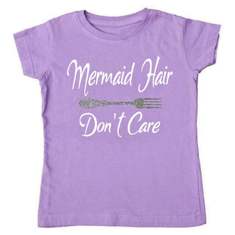 Mermaid Hair Dont Care Shirtt Purple Mommy Me