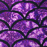 Mermaid Tail Minky Blanket Purple Sparkle Pink