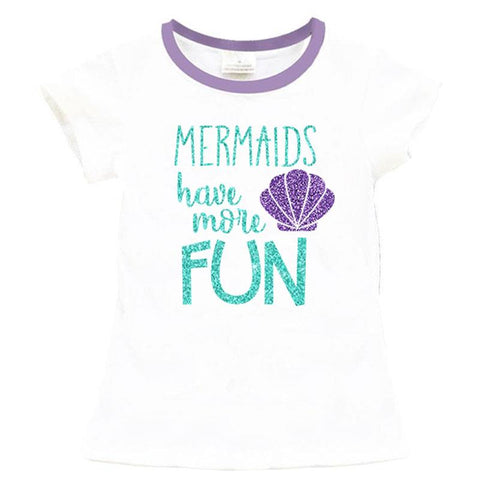 Mermaids Have More Fun Shirt Purple Teal Mommy Me