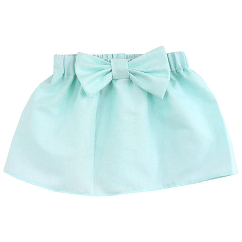 Mint Blue Skirt Bow
