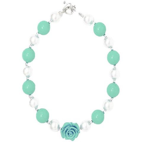 Mint Flower Necklace Chunky Gumball