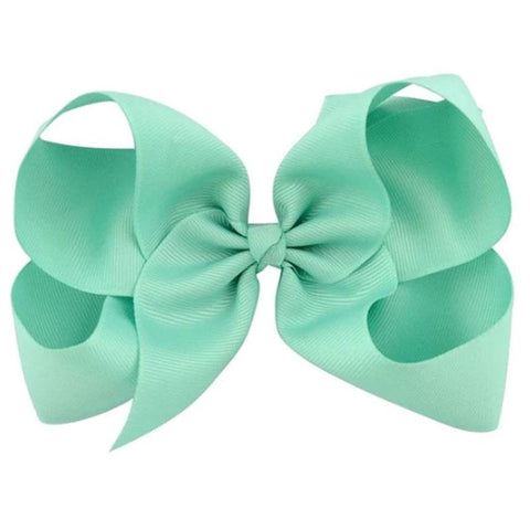 Mint Knot Hair Bow
