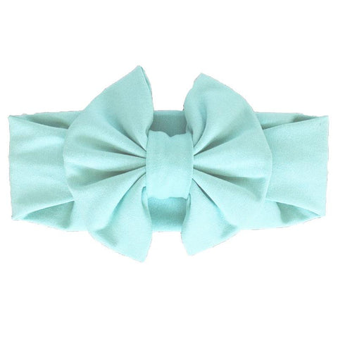 Mint Blue Messy Bow Headband