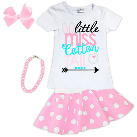Miss Cotton Tail Shirt And Skirt