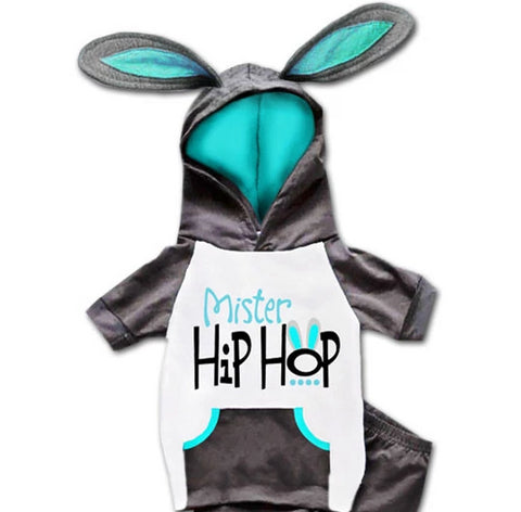 Mister Hip Hop Bunny Ears Hoodie And Pants