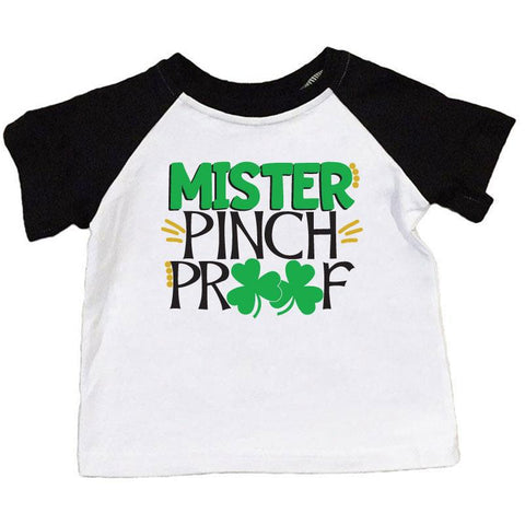 Mister Pinch Proof Shirt Black Raglan Short Sleeve Boy