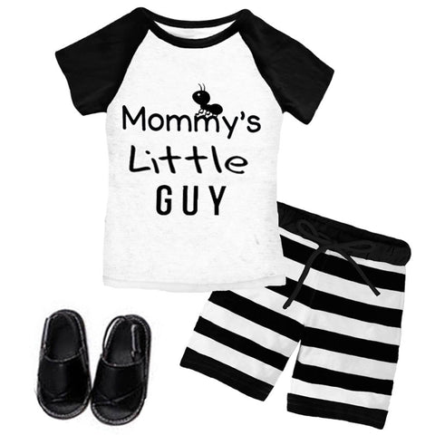 Mommys Little Guy Shirt And Shorts