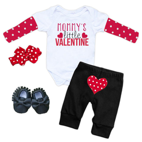 Mommys Valentine Polka Onesie And Pants