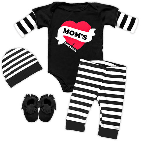 Moms Heart Breaker Onesie And Pants