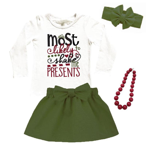 Most Likely Shake Presents Outfit Sage Green Top And Skirt
