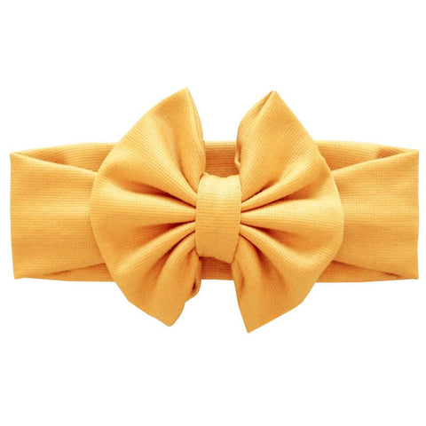 Mustard Yellow Messy Bow Headband