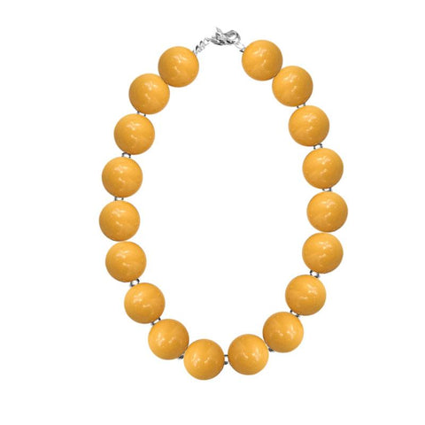 Mustard Yellow Necklace Chunky Gumball