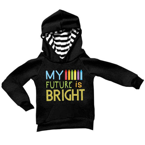My Future Is Bright Hoodie Black Stripe