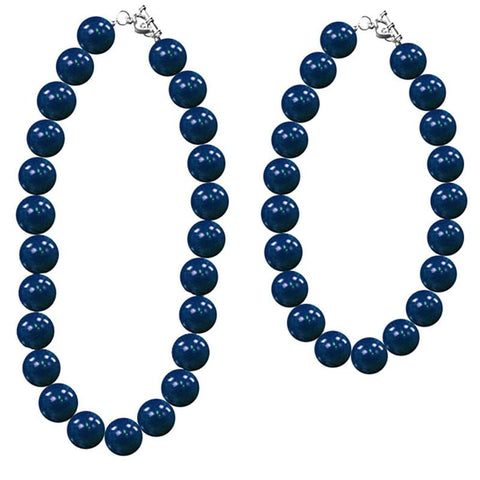 Navy Blue Necklace Gumball Chunky