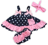 Navy Pink Polka Two Piece