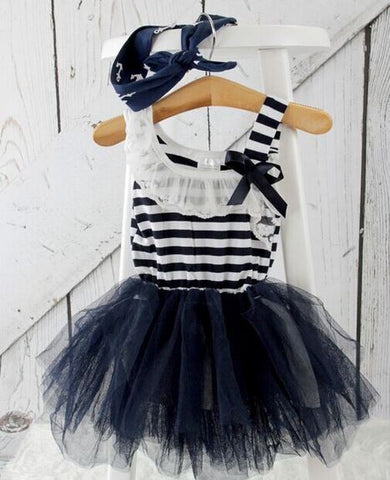 Navy White Stripe Tutu