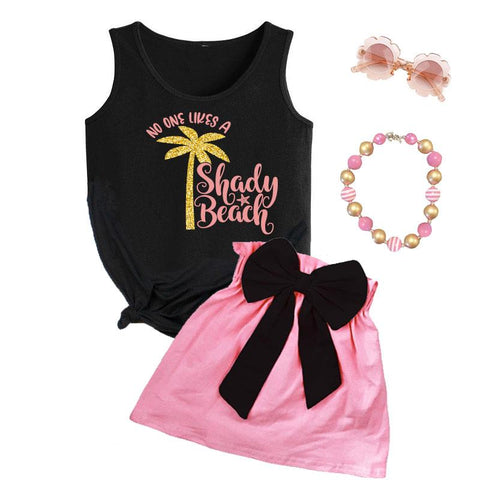 No One Likes A Shady Beach Outfit Black Tank Top And Skirt