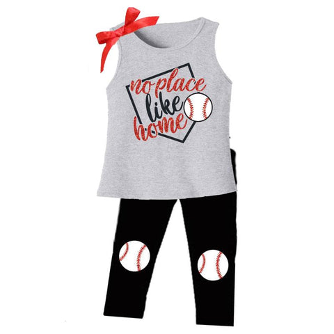 No Place Like Home Black Baseball Tank Top And Pants