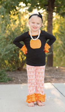 Orange Aztec Pumpkin Pant Set