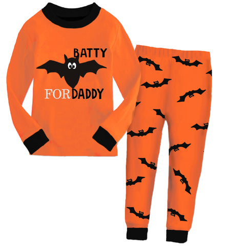 Orange Black Batty For Daddy Pajamas