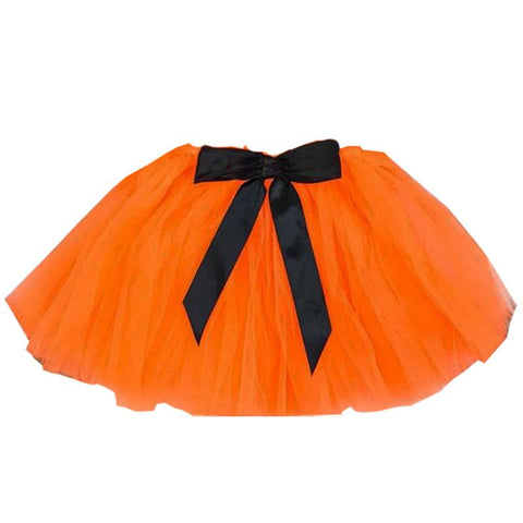 Orange Black Bow Tutu