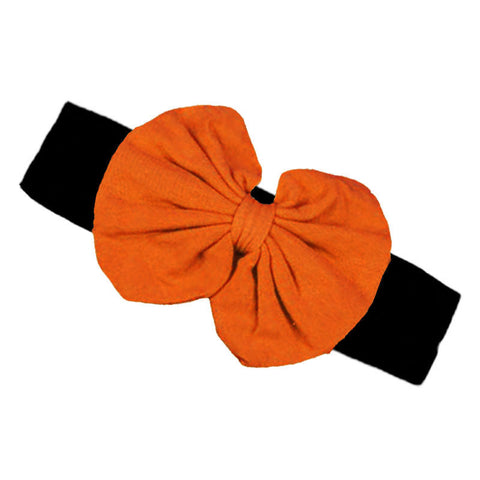 Orange Black Messy Bow Headband