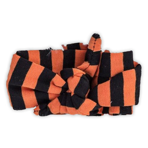 Orange Black Stripe Head Wrap Headband