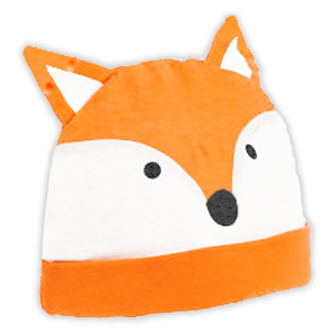 Orange Fox Beenie Hat