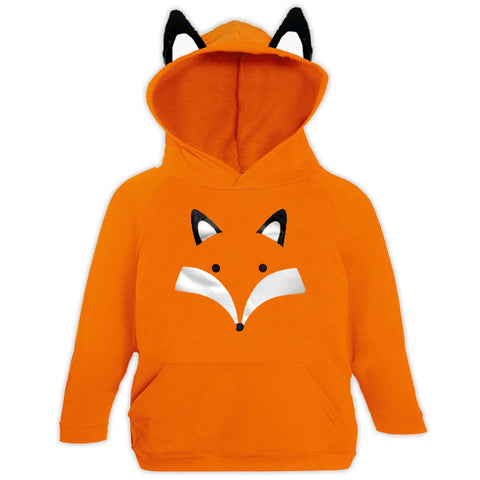 Orange Fox Ears Hoodie