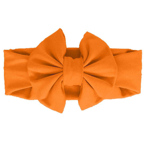 Orange Messy Bow Headband