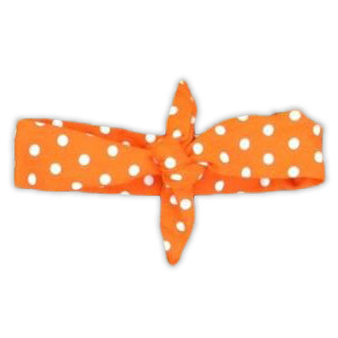 Orange Polka Head Wrap Headband