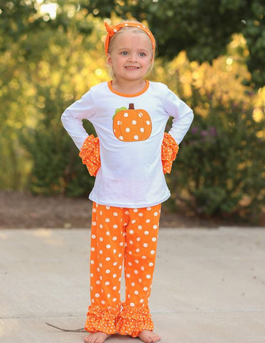 Orange Polka Pumpkin Capri
