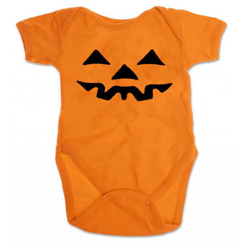 Orange Pumpkin Face Onesie