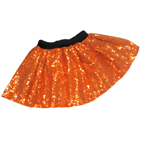 Orange Sequin Skirt