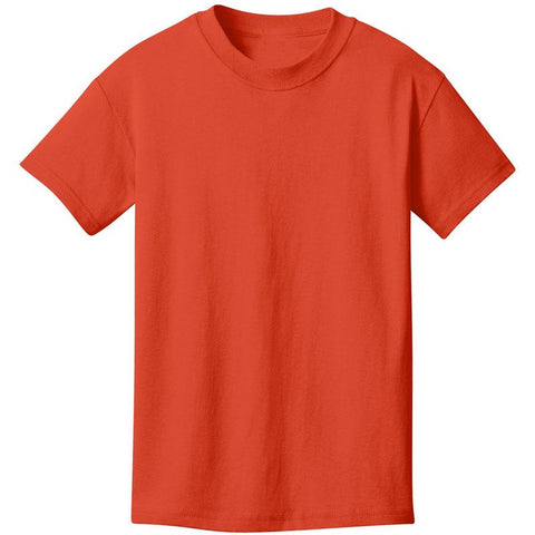 Orange Shirt Short Sleeve Boy