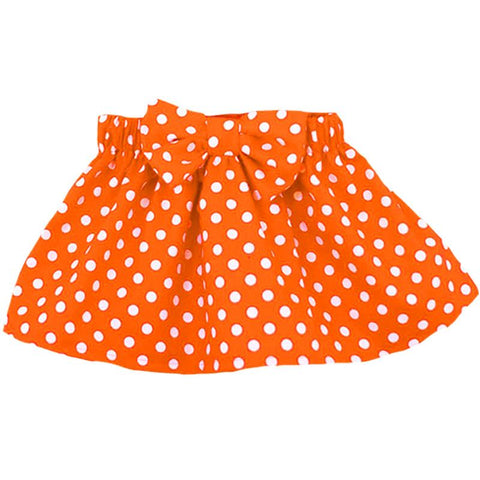Orange Skirt Polka Dot Bow