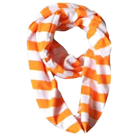 Orange White Stripe Scarf