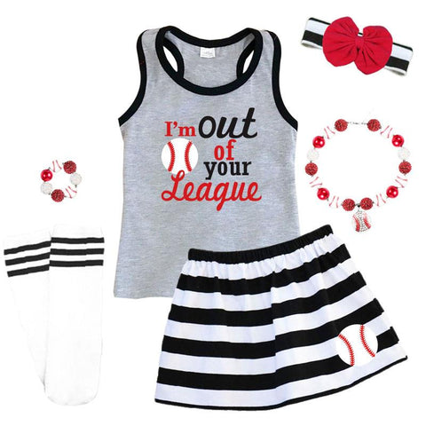 Out Of Your League Outfit Black Stripe Tank Top And Skirt